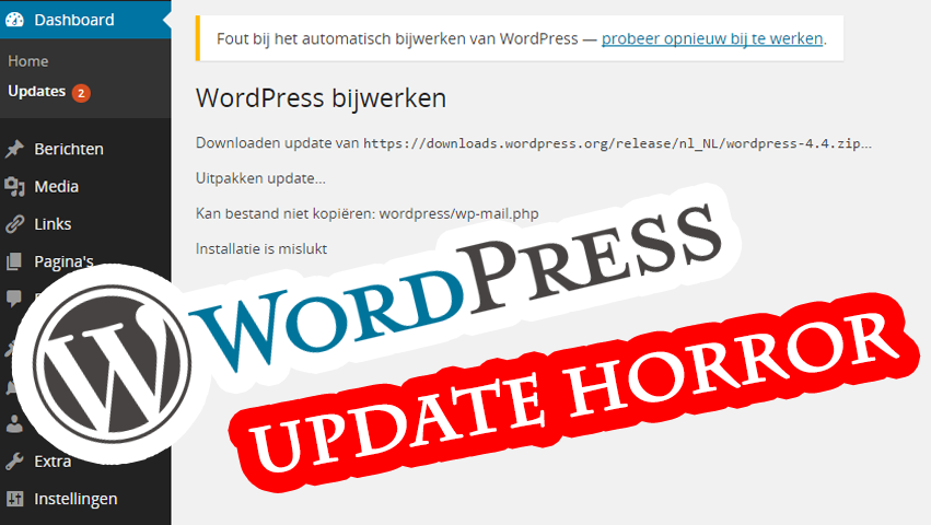 WordPress installation failed: could not create directory